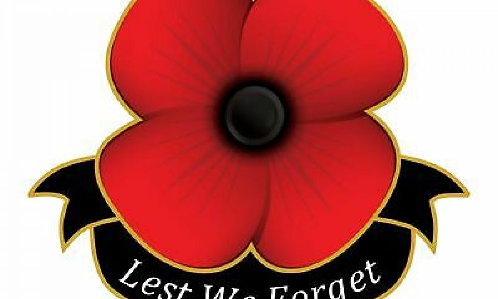 Poppy Day, Lest We Forget