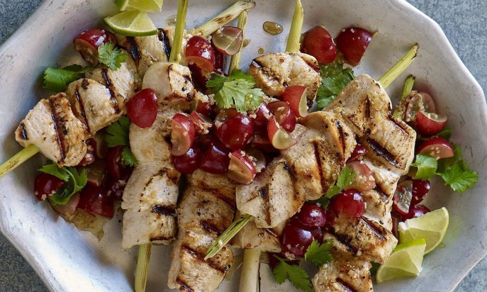 Anime las recetas de verano con uvas frescas