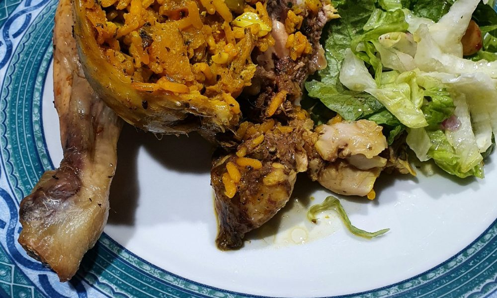 Moroccan Roast Chicken with Rice